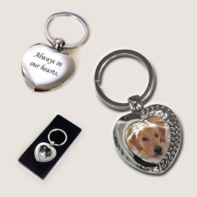 Pet Loss Keyring - Heart | Someone Remembered